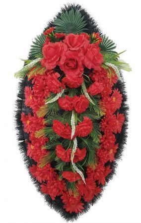 Траурный венок из искусственных цветов - Классика #12