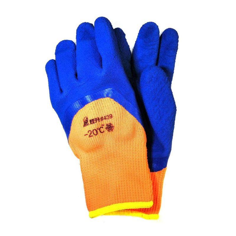 Перчатки рабочие зимние с рельефным покрытием из вспененного латекса #439