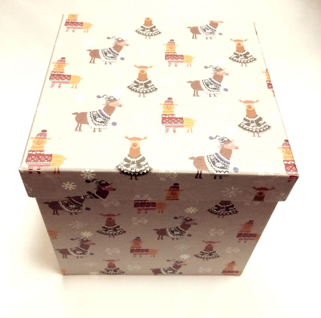 Коробка подарочная квадратная (Куб)