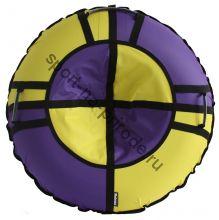 Тюбинг Hubster Хайп сиреневый-желтый 120 см