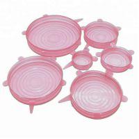 Силиконовые Крышки Silicone Sealing Lids, 6 шт, Цвет Розовый (2)