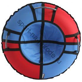 Тюбинг Hubster Хайп красный-голубой 100 см