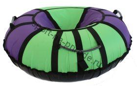 Тюбинг Hubster Хайп фиолетовый-салатовый 90 см