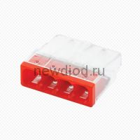 Строительно-монтажная клемма СМК 772-204 (4штук/упаковка) IN HOME