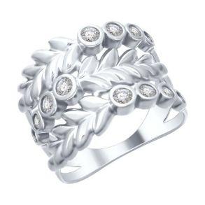 Кольцо из серебра с фианитами 94012488 SOKOLOV