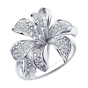 Кольцо из серебра с фианитами 94010675 SOKOLOV