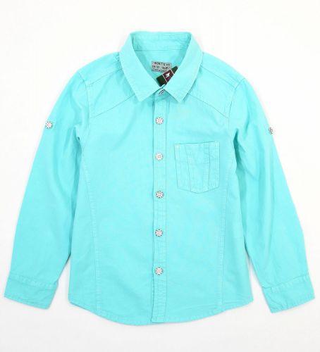 """Рубашка для мальчиков 7-10 лет Bonito Jeans """"Gool"""" бирюзовая"""