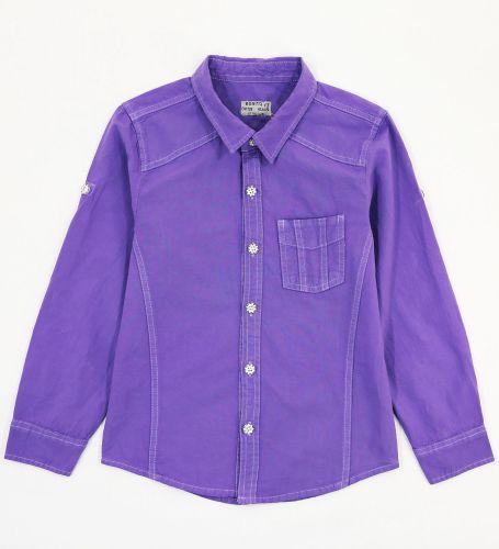 """Рубашка для мальчиков 7-10 лет Bonito Jeans """"Gool"""" фиолетовая"""