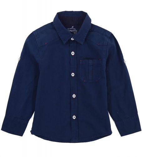 Рубашка для мальчиков 2-5 лет Bonito Jeans, темно-синяя