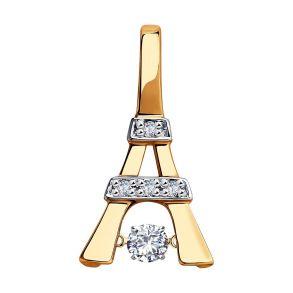 Подвеска из золота с бриллиантами 1030740 SOKOLOV