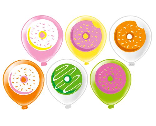 Вкусный пончик шар латексный с гелием