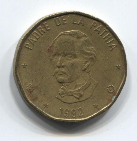 1 песо 1992 года Доминиканская Республика