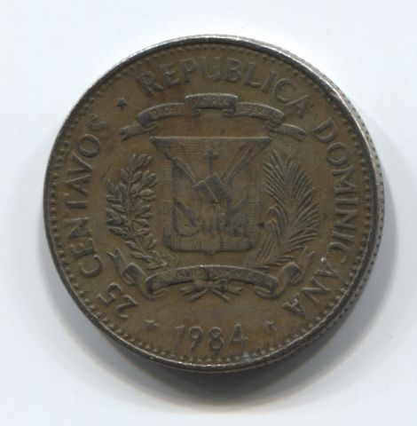 25 сентаво 1984 года Доминиканская Республика