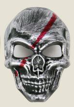 Маска карнавальная череп смерть на Хэллоуин серебро
