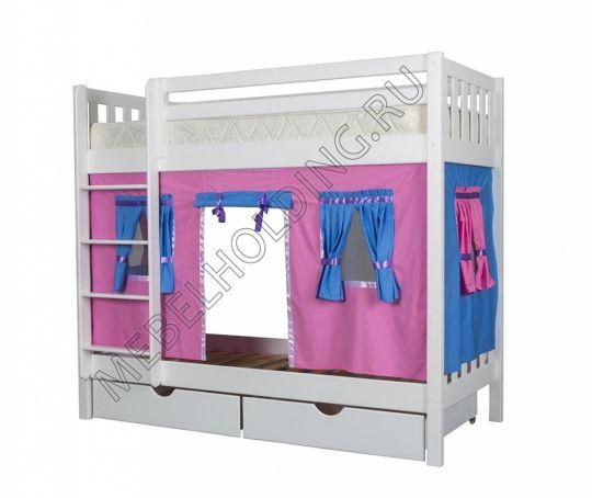 Двухъярусная игровая кровать Мальвина
