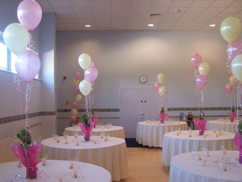 Фонтаны из шаров для украшения праздничного стола