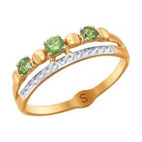 Кольцо из золота с бесцветными Swarovski Zirconia 81010391 SOKOLOV