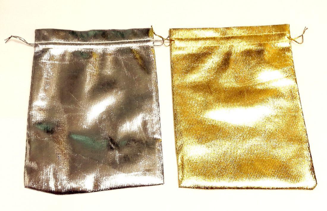 Мешочки для Подарков Золото/Серебро
