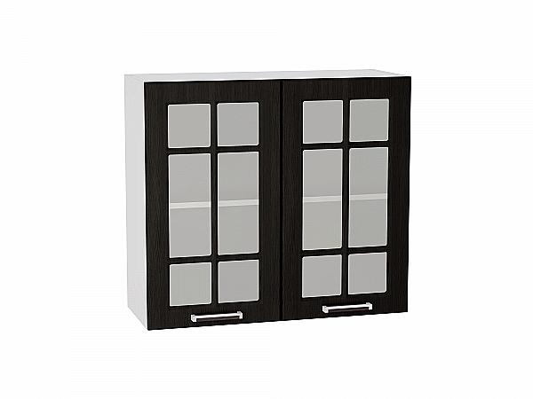 Шкаф верхний Прага В809 со стеклом (Венге Премиум)