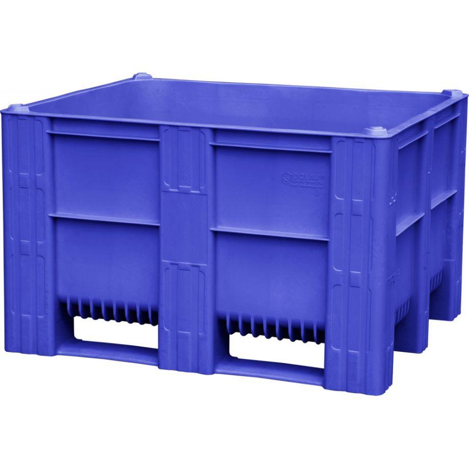 Контейнер BoxPallet 620 л сплошной на 3-х полозьях