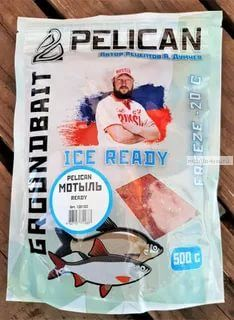 "Прикормка Ready Pelican ""Мотыль""/запах мотыль/цвет: красный / 500гр"
