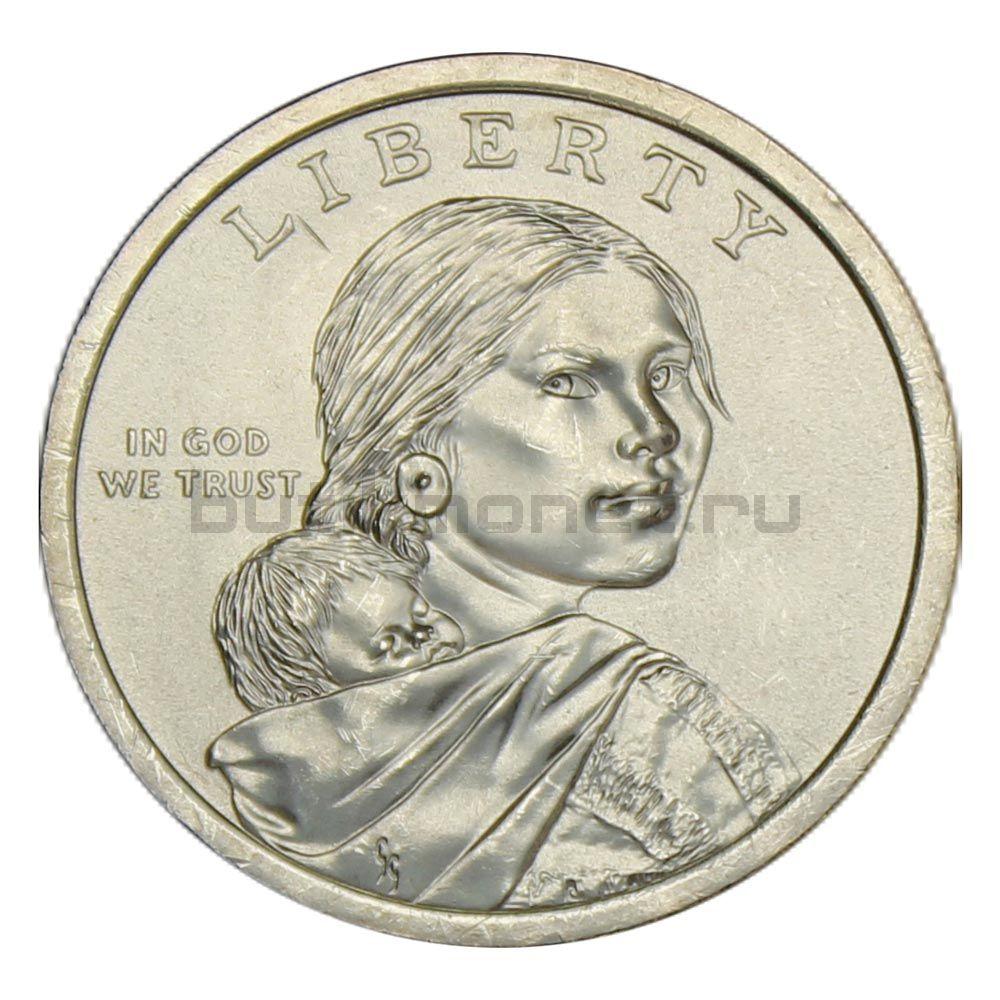 1 доллар 2019 США Индейцы в космической программе (Коренные Американцы)