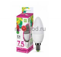 Лампа светодиодная LED-СВЕЧА-standard 7.5Вт 230В Е14 6500К 675Лм ASD