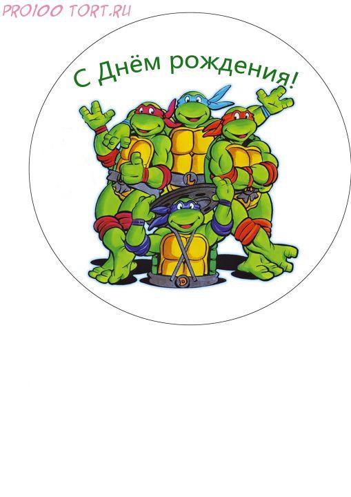 Вафельная картинка на торт  Детский праздник №24 (размер 14,5см)