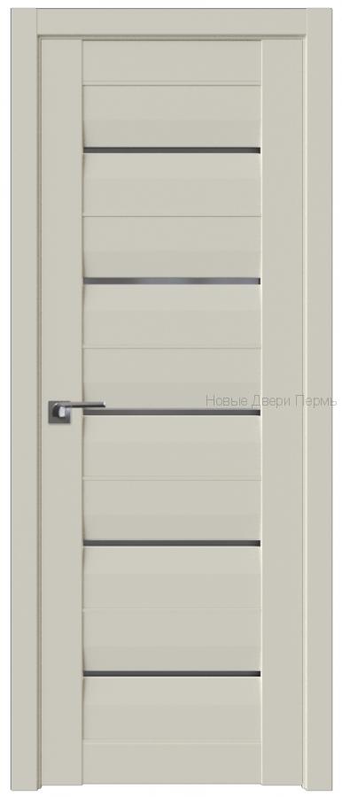 48U МАГНОЛИЯ САТИНАТ стекло Графит - PROFIL DOORS межкомнатные двери