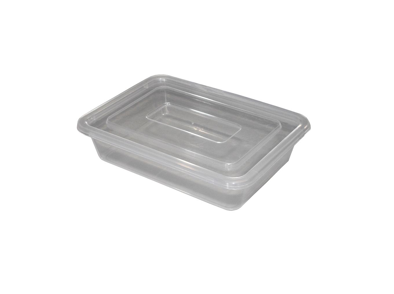 Лоток прозрачный для пищевых продуктов 1,7л. с крышкой. Милих