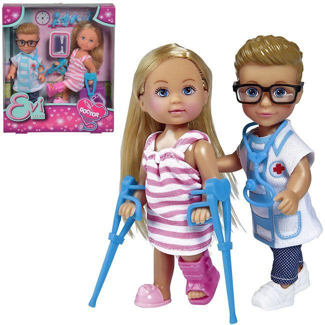 ЕВИ Кукла Еви и Тимми На приеме у доктора