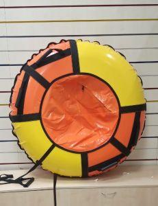 Тюбинги НИКА 110 см ПВХ Взрослым и детям оранжево желтые (4 ручки)