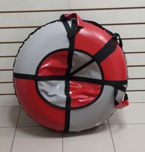 Тюбинг 100 см ПВХ серо красные