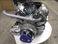 Двигатель на Буран 24 л.с., двухцилиндровый, 4-х тактный с электростартером, вариатором, коленом глушителя, электропроводка, катушка освещения 240 Ват- texnomoto.ru