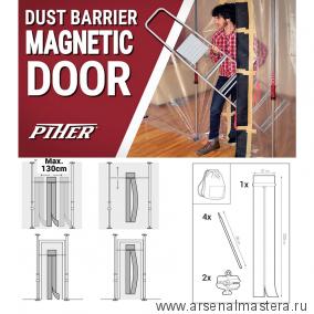 Набор для создания магнитной двери (магнитная полоса, стержни, зажимы) Piher 34110 М00017017