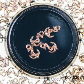 Металлическая фурнитура Hanami Якорь, розовый 4 шт.