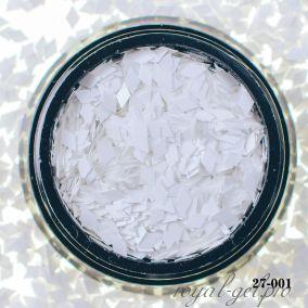 Камифубики Hanami Ромбики, белый, 2мм