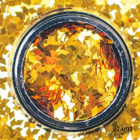 Камифубики Hanami Ромбики, золото, 2мм