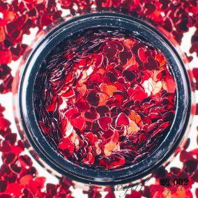 Камифубики Hanami Сердце, Красный, 3мм