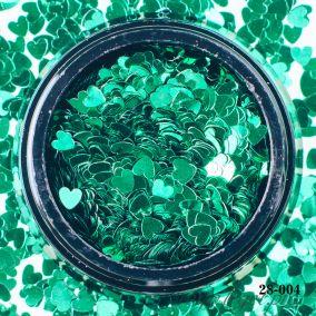 Камифубики Hanami Сердце, зелёный, 3мм