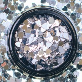 Камифубики Hanami Сердце, серебро, 3мм