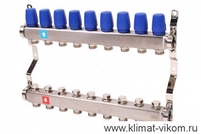 Коллектор MVI с расходомерами на 9 выходов