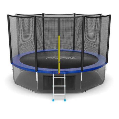 Батут с верхней и нижней сеткой Evo Jump External 12ft Lower net Blue