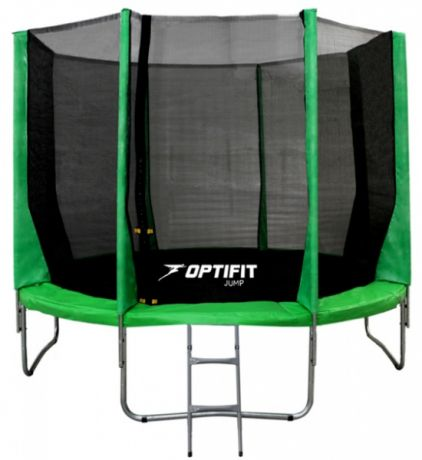 Батут для дачи с сеткой Optifit JUMP 8ft 2,44 м зеленый