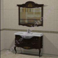 """Зеркало и консоль  """"Руссильон PROVENCE- 2-105 темный орех"""