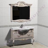"""Зеркало с консолью  """"Руссильон PROVENCE- 2-105 выбеленный бук"""
