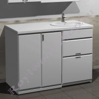 """Тумба для ванной под стиральную машину """"Глосси-С бюджет"""