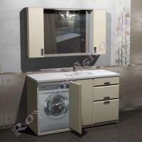 """Тумба под стиральную машину и шкаф """"Глосси-С 150 ral 9010"""