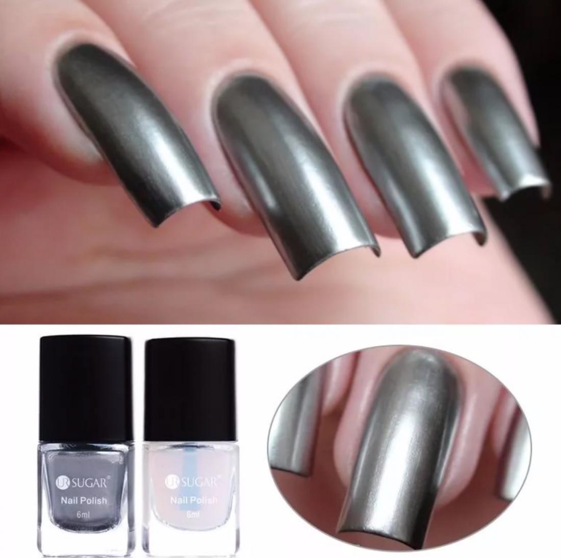 серебро лак для ногтей