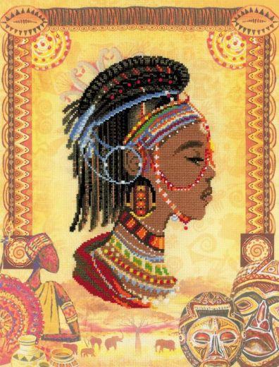Набор для вышивания крестом Африканская принцесса РТ 0047 фирма Риолис